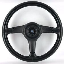 Genuine Nardi Gara 365mm black leather steering wheel, horn pad. 1990's classic.
