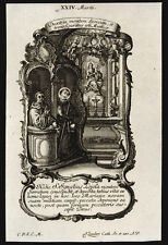 santino incisione 1700 S.IGNAZIO DA LOYOLA.  klauber
