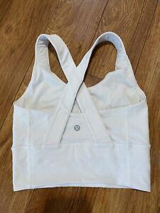 Lululemon White Sports Bra Size 4