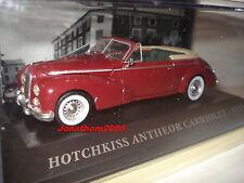 VOITURES FRANCAISES D'AUTREFOIS HOTCHKISS ANTHEOR CABRIOLET 1953  au 1/43°