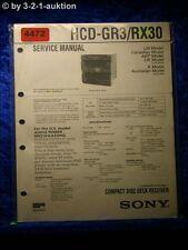 Sony Service Manual HCD GR3 /RX30 CD Cassette Player (#4472)