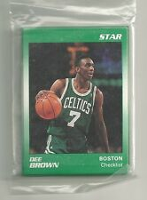 Dee Brown 1991 Star Company Boston Celtics 11-card Basketball Set