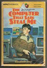 Vintage 1983 The Computer That Said Steal Me Elizabeth Levy Paperback Kids Book