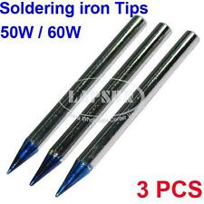 3PCS 5.7mm Diameter Fine Point Solder Soldering Tip For 50W 60W Soldering Iron