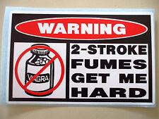 FUNNY WARNING BOAT TROLLING MOTOR DIRTBIKE MOPED STICKER DECAL 2 STROKE HARD 642