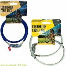 COMBINATION BIKE LOCK BICYCLE STEEL CABLE 4 DIGIT SECURITY PADLOCK