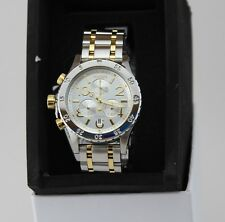 NEW AUTHENTIC NIXON 38-20 CHRONOGRAPH SILVER GOLD CRYSTAL WOMEN A404 2187 WATCH