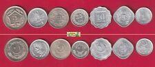PAKISTAN 7 COIN SET WHOLESALE LOT OF 10 SET 1,5,10,25,50 PAISA 1,5 RUPEES UNC