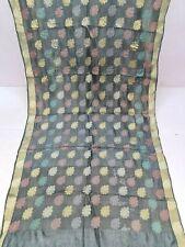Classic Black Pure Tussar Silk Saree Traditional Embroidered Sari Wedding Wear