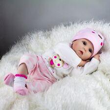 Lifelike Newborn Silicone Vinyl Reborn Gift Baby Dolls Handmade Full Body 22''