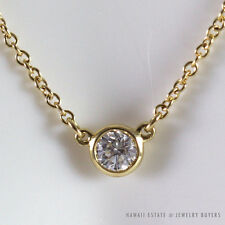TIFFANY & CO. DIAMONDS BY THE YARD PERETTI .10CT BEZEL SET DIAMOND 18K NECKLACE