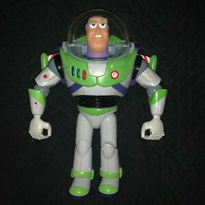 """Disney Pixar Toy Story Thinkway Toys 12"""" Large Action Figure Buzz Lightyear"""
