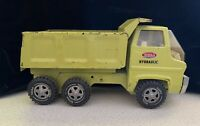 Tonka 1970s Vintage Dump Truck 13200 Lime Green Hydraulic Metal Pressed Steel