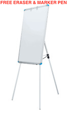 More details for linno® quality flip chart easel magnetic whiteboard presentation board900x600mm