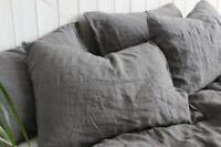 100% LINEN PILLOWCASE envelope closure queen linen pillow cover linen bedding