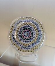 Vintage Whitefriars Monk Cane 1978 Millefiori Faceted Glass Paperweight