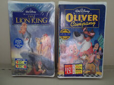 Walt Disney'S The Lion King & Oliver & Company Vhs Tape Factory Sealed