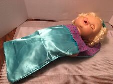 "Fits Larger 15"" 16"" Baby Alive Doll Doll Sleeping Bag Accessory NEW"