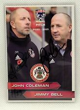2020-21 Across The Pitch John Coleman Jimmy Bell Auto 7/29 Accrington Stanley