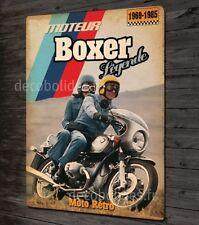 Plaque métal déco 31x21cm, Moto vintage BMW moteur boxer