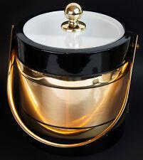 Vintage Morgan Bucket Brigade Gold Metal Trim Ice Bucket