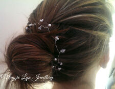 Bridal hair vine / chain accessory with Swarovski Crystals.  weddings bride UK