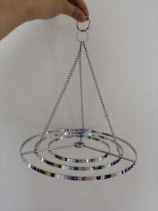 """5Pcs 8.6"""" Chrome Hanger Chandelier Frame Wedding Party Centerpiece Decoration"""