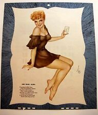 1947 Varga Pin Up Girl Picture w/ Flirty Blond Mailing a Love Letter