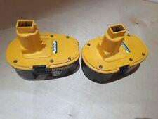 Pair of Dewalt XRP range DE9503 18V 2.6Ah Ni-MH batteries