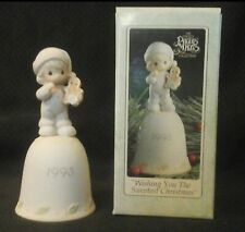1993 Precious Moments Sweetest Christmas Bell.Very good Precious Moments Bell Collectibles China Galore,Very good in original box