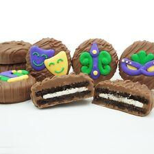 Philadelphia Candies Mardi Gras Fat Tuesday Milk Chocolate Covered OREO® Cookies