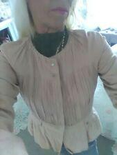 Gorgeous Adolfo Dominguez Sand/Peach Cotton lined Jacket EU 38 Bnwot fits 6/8/10