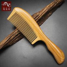 Natural Wooden Comb Fine toothed comb Green Sandal Wood Comb Massage Hair comb