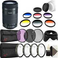 Canon EF-S 55-250mm F4-5.6 IS STM Lens with Accessories for Canon DSLR Cameras