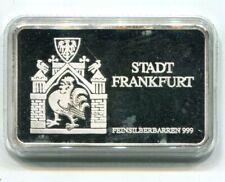 SILBERBARREN 999° SILBER  STADT FRANKFURT / FRANKFURT ODER  EURO MINT PP