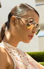 NEW QUAY Vivienne Gold/Rose Mirror Sunglasses