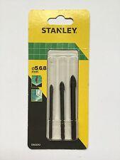 3 x Brocas de vidrio y de azulejos. Stanley. 5,6,8mm. Sta53312