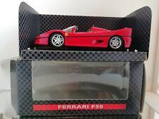SHELL FERRARI COLLEZIONE FERRARI F 50 F50 1:24 MODEL CAR RED MINT BOXED