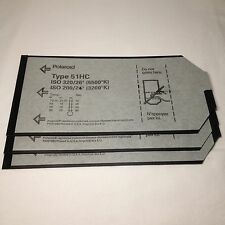 "3x Polaroid 4x5"" Sheet plan film type 51hc S/W b&w Instant Film 4 x 5 RAR!"
