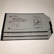 """3x Polaroid 4x5"""" Sheet Plan Film Type 51HC  S/W B&W Instant Planfilm 4 x 5 rar !"""