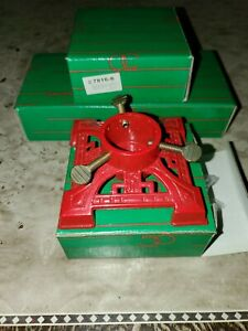 LOT of 4 DEPARTMENT 56 Mini Red CHRISTMAS TREE STAND Antique Replica w/ Boxes