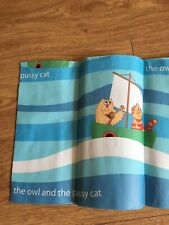 """Brand new John Lewis """"The Owl & The Pussycat"""" tablecloth/cover"""