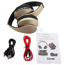 Foldable Wireless Bluetooth FM Stereo Bass Headphones Headset Earphone Universal