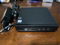HP ProDesk 600 G2 DM i5-6500T 2.5ghz, 8gb RAM, Win10 Pro, 250gb SSD, Power Adap