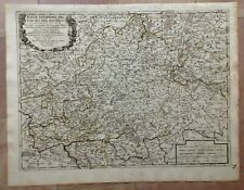 UPPER RHINE GERMANY 1688 GIACOMO ROSSI 17e CENTURY LARGE ANTIQUE ENGRAVED MAP
