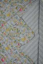 Indian vintage kantha handmade quilt cotton bedspread coverlet queen size throw