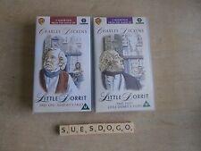 DICKENS LITTLE DORRIT PARTS 1 & 2 - DEREK JACOBI ALEC GUINNESS - 2 VHS VIDEOS