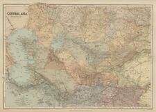 Central Asia. Trans-Caspian Aral Sea Khiva Bokhara Sirdaria STANFORD 1896 map