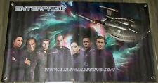 "Gorgeous Star Trek: Enterprise 35""x20"" Crew & Nx-01 Vinyl Banner w/Grommets New!"