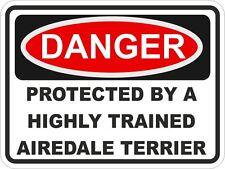 Dog Breed AIREDALE TERRIER Danger Sticker Pet for Bumper Car Truck Locker
